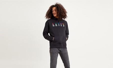 sweat levi's black noir hoodie