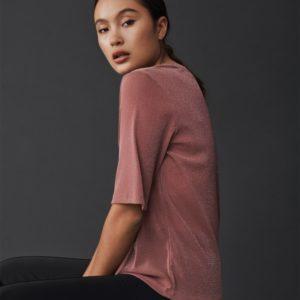 t-shirt top rose poudré msch