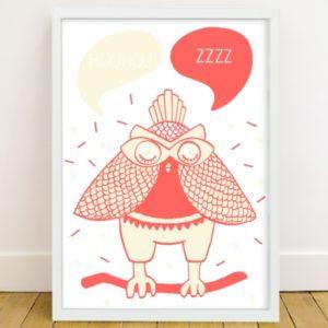 owl poster phospho loula omy