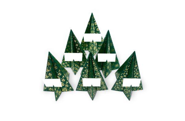 sapins verts dorés agent paper