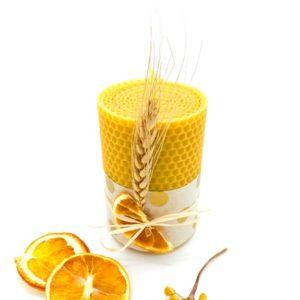 milcan bougie cire miel abeilles