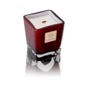 bougie intemporelle carmin rouge grasse parfumée