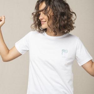 t-shirt blanc graine ss21