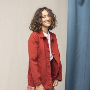 veste rouge graine