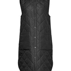 longgue veste sans manche msch noire