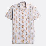 chemise manches courtes hawaïenne short sleeves far afield point break white blue