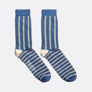 chaussettes à rayures bleues far afield