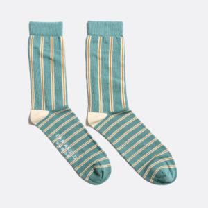 chaussettes à rayures vertes far afield