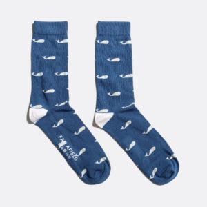 chaussettes bleues baleines far afield