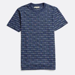 t-shirt aop surfboards bleu marine navy far afield
