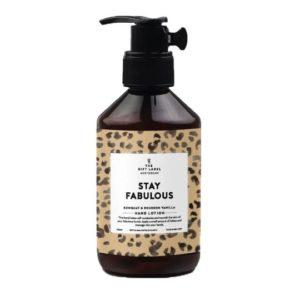lotion pour les mains stay fabulous gift label